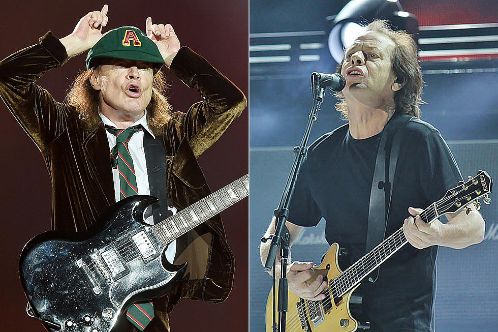 AC/DC's Angus + Stevie Young Spotted Outside Vancouver Studio