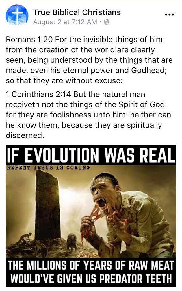 Cattle Decapitation Destroy Christian Group For Creationist Meme