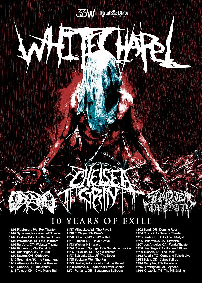 Whitechapel to Play 'This Is Exile' in Full on Late 2018 Tour