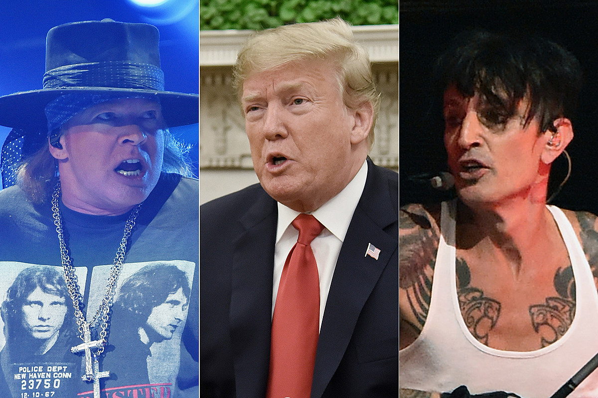 Axl Rose, Tommy Lee Critical of Trump's California Fire Response