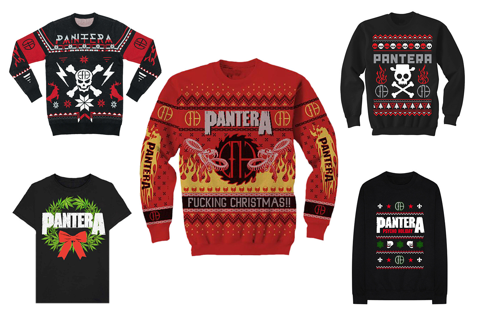 Pantera Christmas Sweaters Are Real and They're Metal as F k