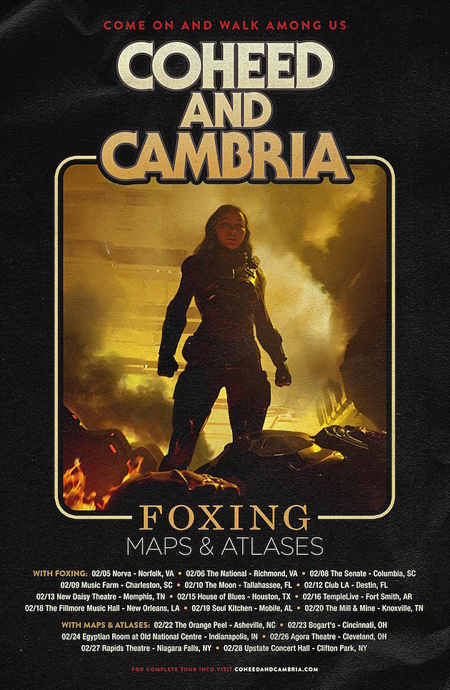 Coheed & Cambria Announce 2019 U S  Tour + Unleash Live Video