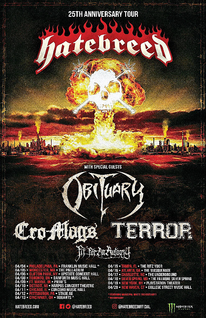 Hatebreed Announce 25th Anniversary 2019 North American Tour