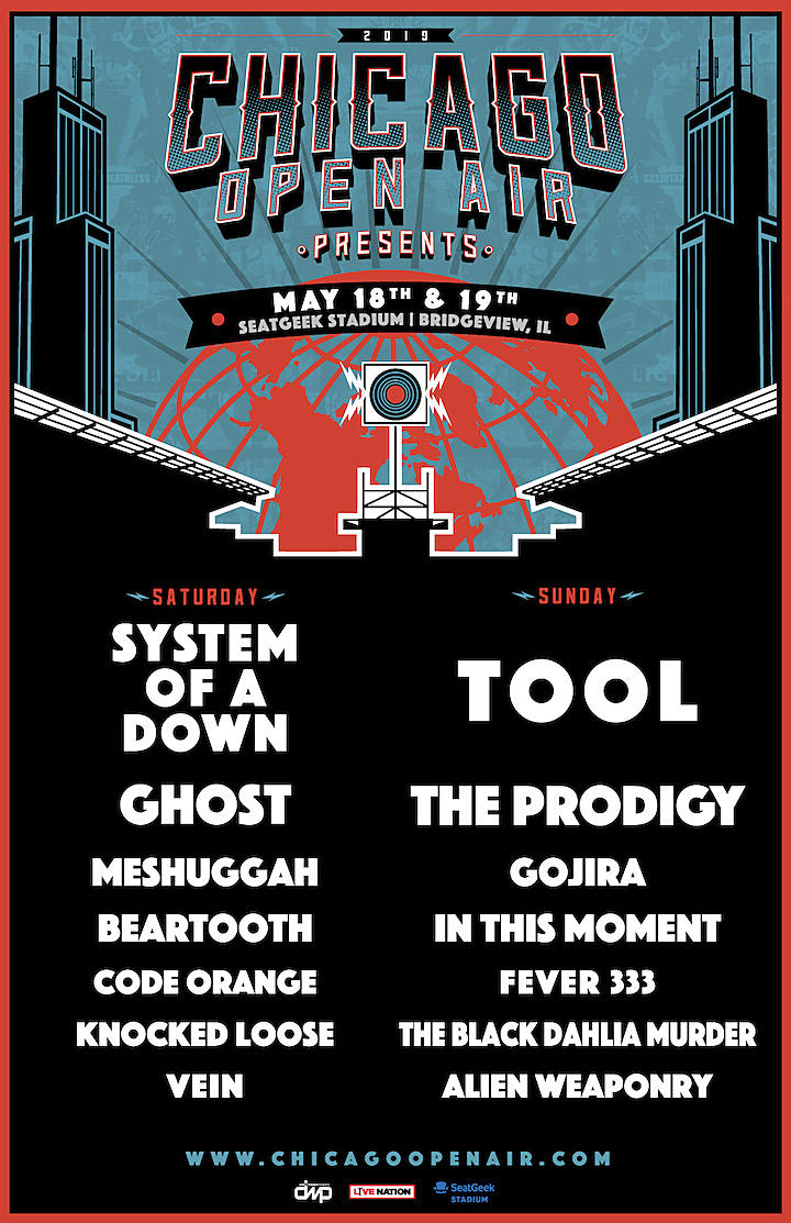 System of a Down, Tool + More Announced for Chicago Open Air