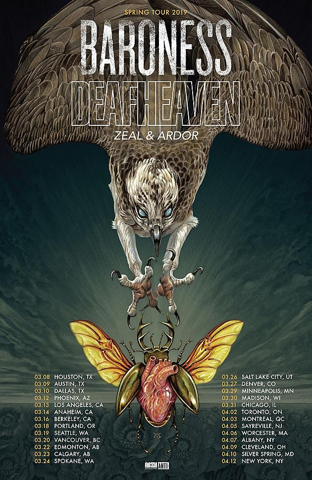 Deafheaven and Baroness to Embark on 2019 Co-Headlining Tour