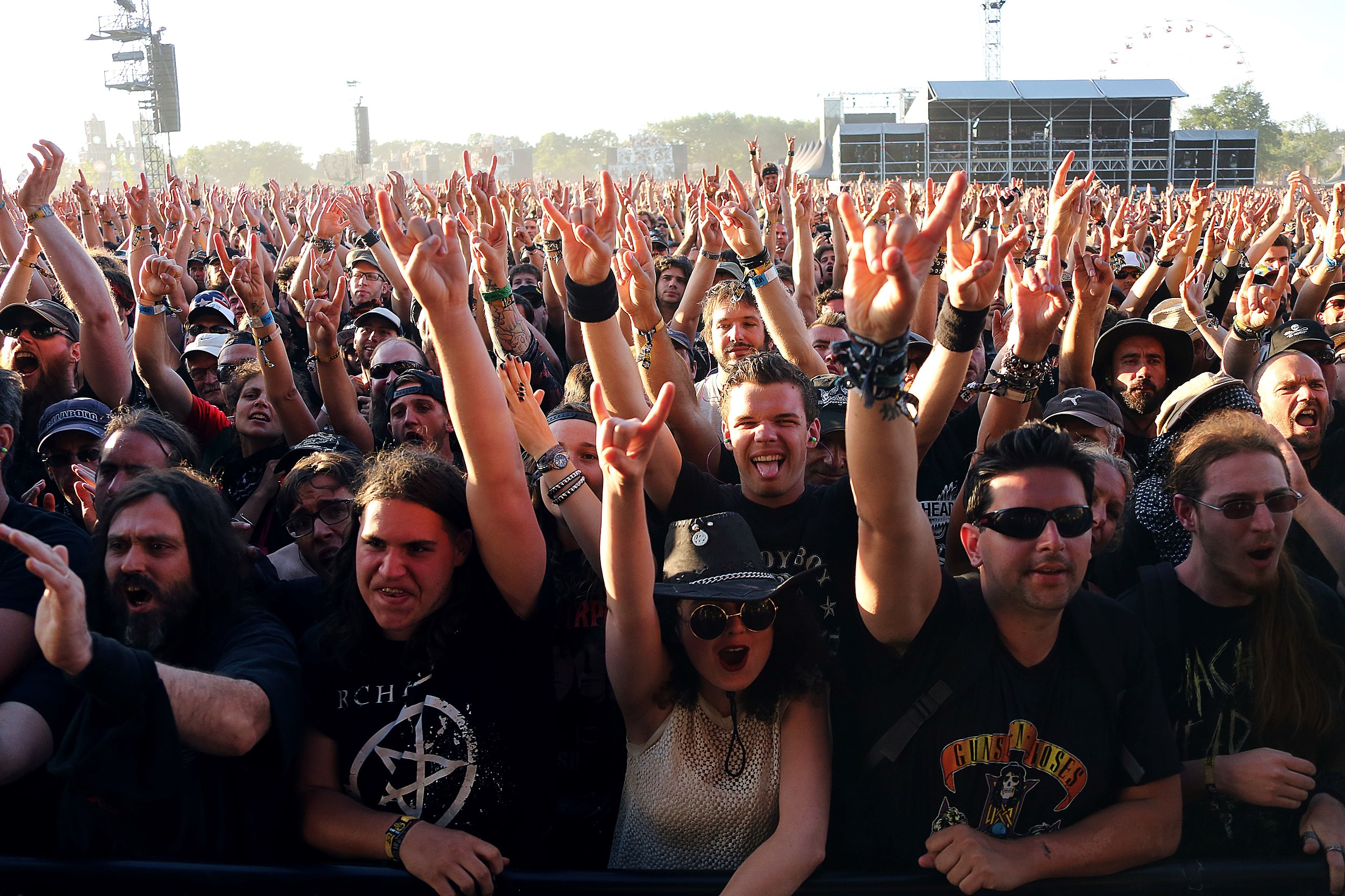 Hard Rocker Ladies T-Shirt Hard Rock Gig Concert T-Shirt Heavy Metal