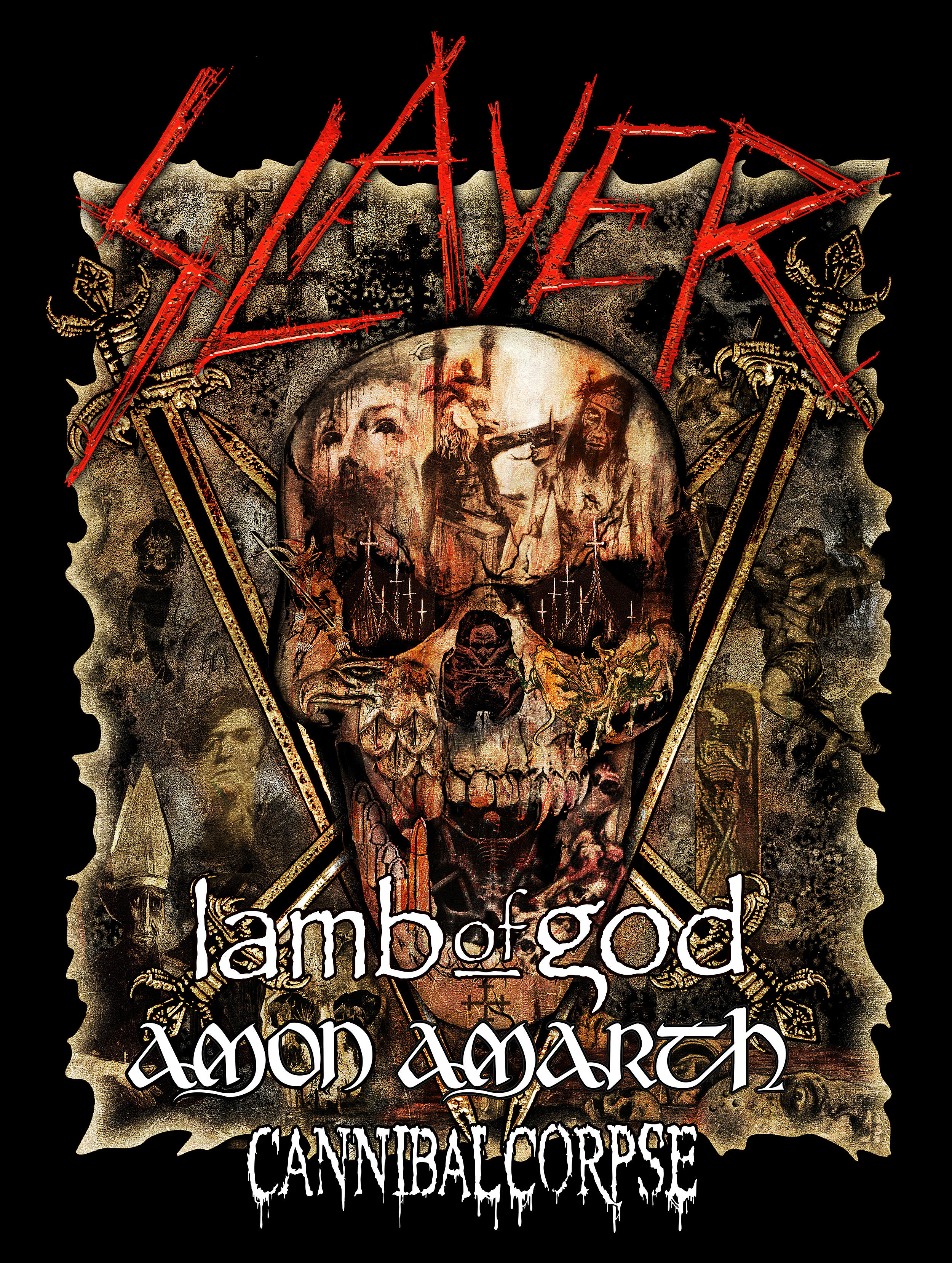 Slayer Tour 2020 Usa Slayer Announce 2019 North American Farewell Tour