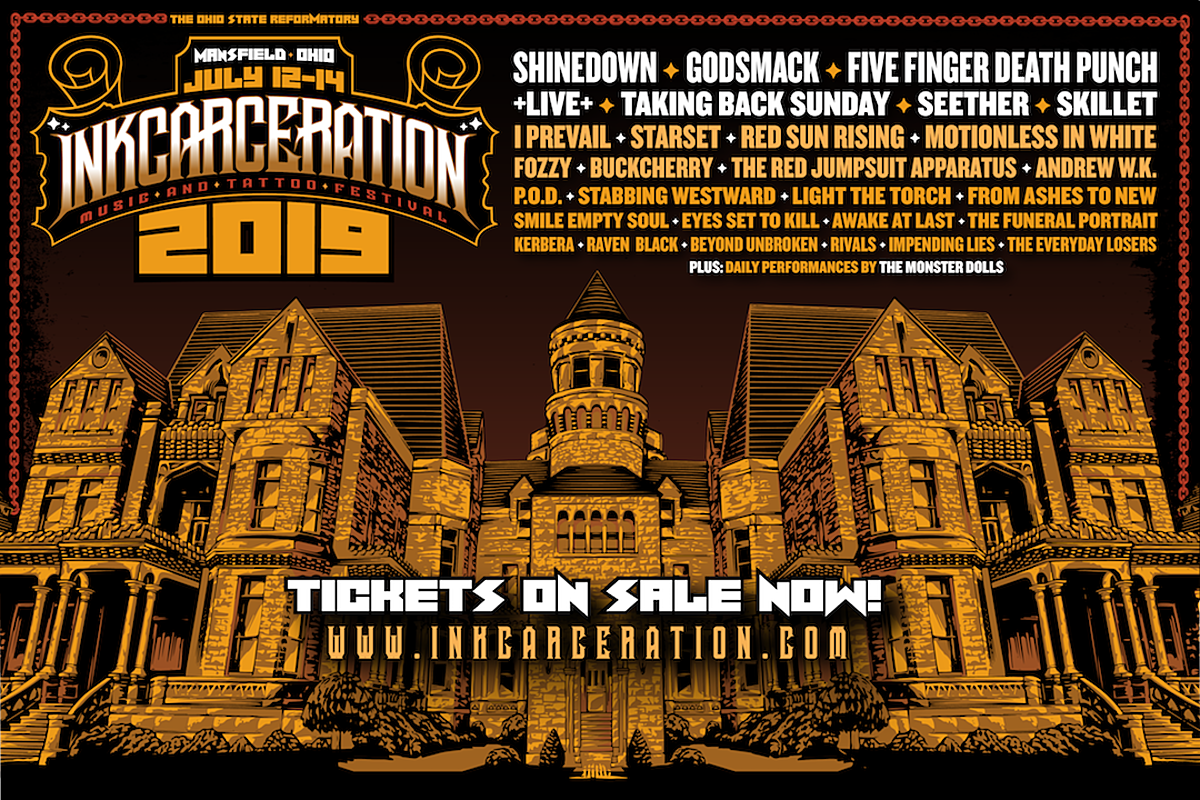 2019 Inkcarceration Music Festival Daily Lineups Revealed