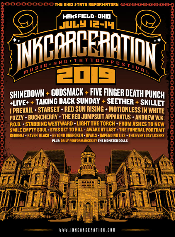 Five Finger Death Punch + More Lead 2019 INKCARCERATION Festival