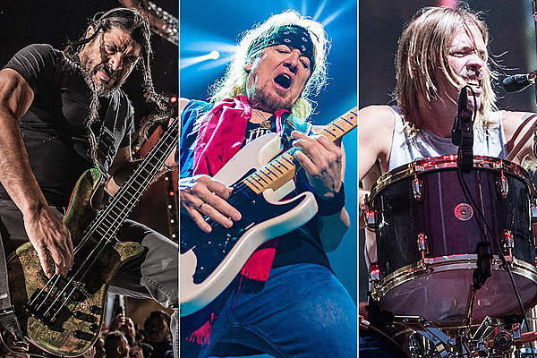 photo shows metallica iron maiden foo fighters members jamming. Black Bedroom Furniture Sets. Home Design Ideas