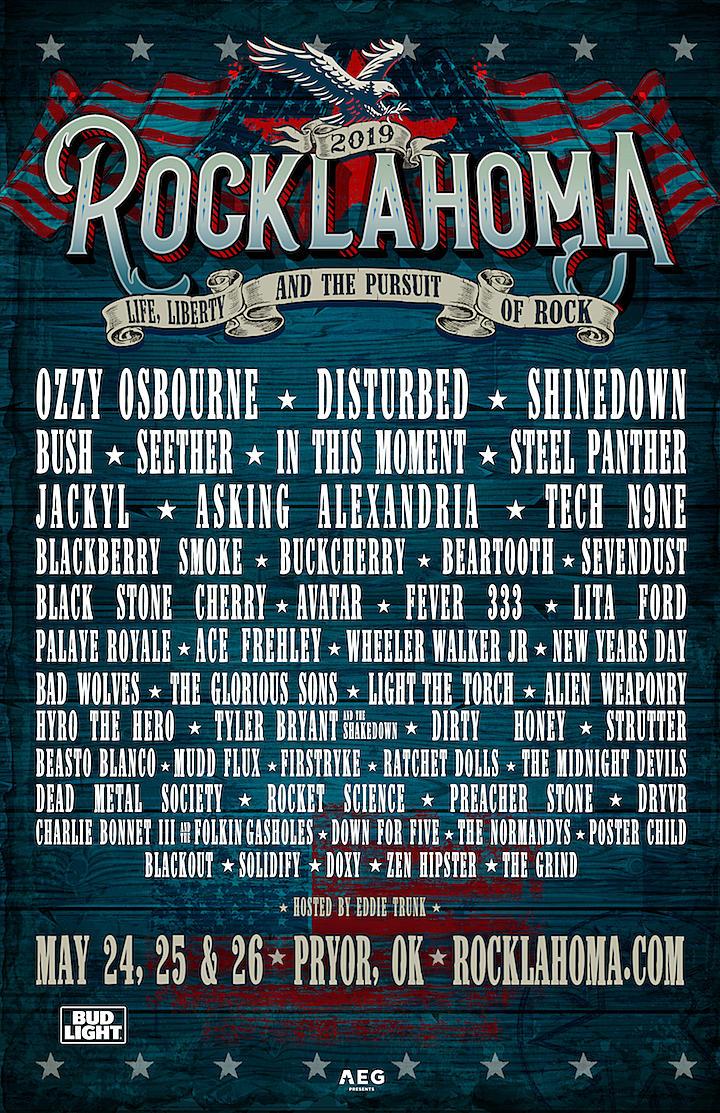 Ozzy Osbourne, Disturbed + Shinedown Lead 2019 Rocklahoma