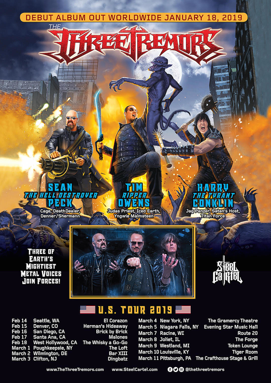 The Three Tremors Announce First U S  Tour
