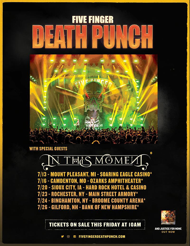 Five Finger Death Punch Announce Summer Tour With In This Moment