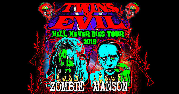 e0005352830 Rob Zombie + Marilyn Manson Add New Dates to 2019  Twins of Evil