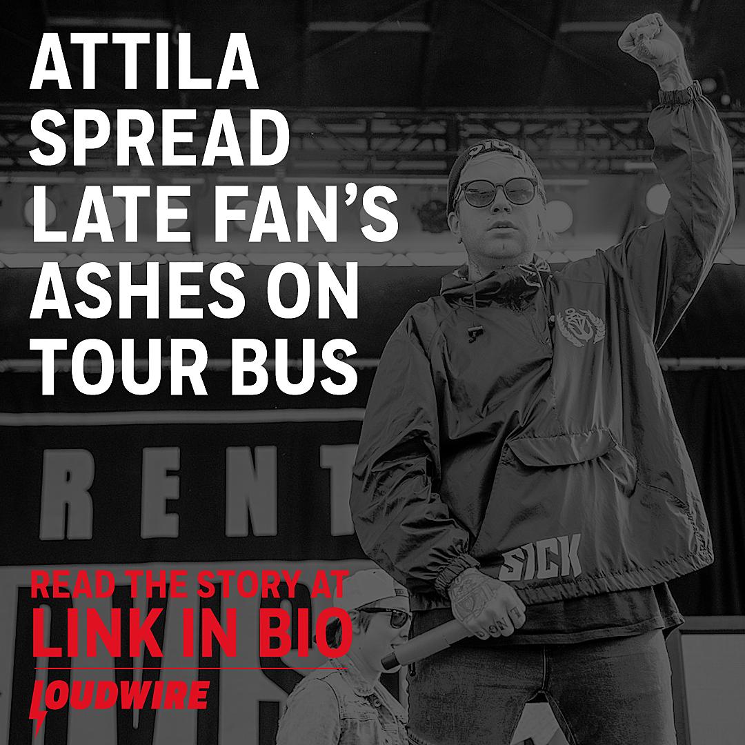 Attila Spread Late Fan's Ashes on Their Tour Bus