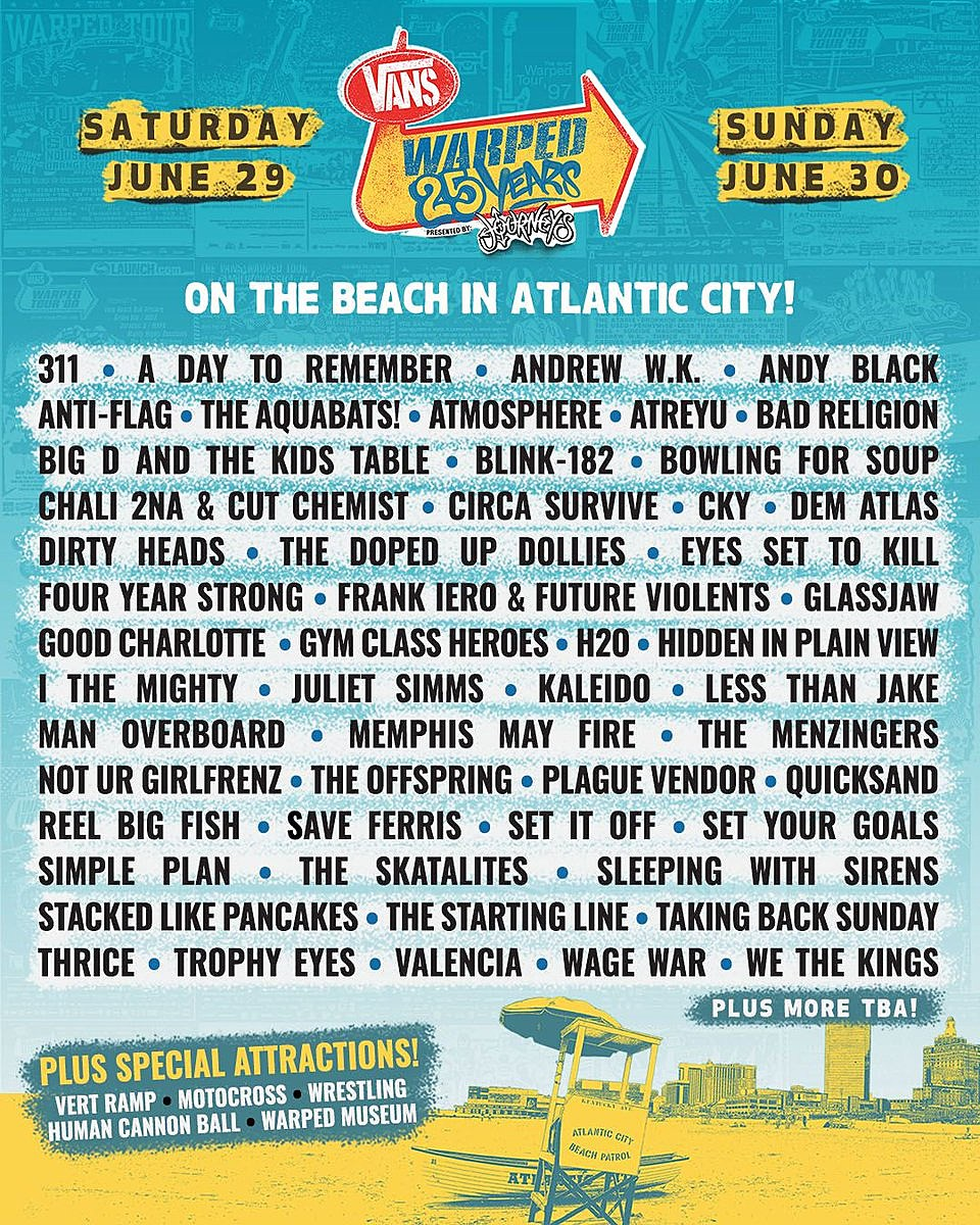 Warped Tour 2020 Lineup Leak.Warped Tour 2019 Lineup Revealed For Anniversary Shows