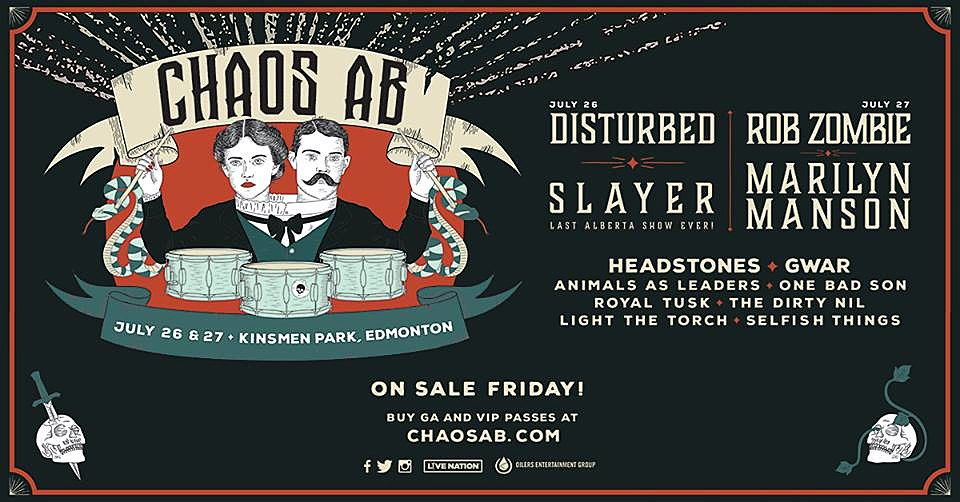 Slayer, Marilyn Manson + More to Play New Festival Chaos AB!