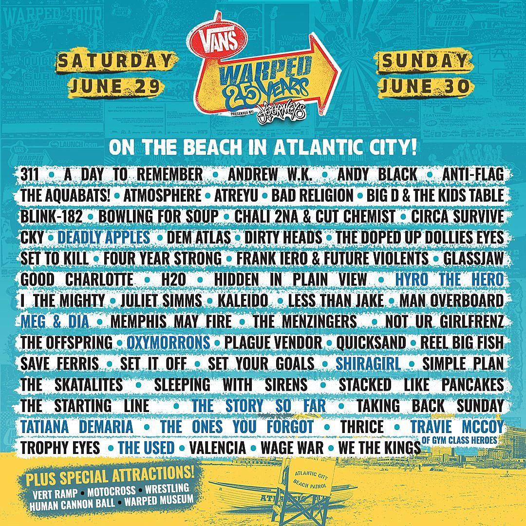Vans Warped Tour Lineup 2020.Vans Warped Tour 2020 Lineup Tour 2020 Infiniteradio