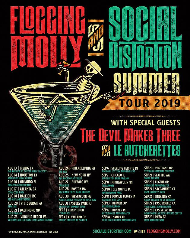 Flogging Molly + Social Distortion Announce Summer 2019 Tour