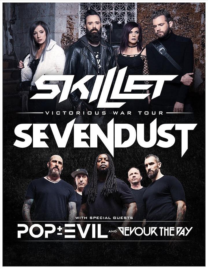 Pop Evil Tour 2020 Skillet + Sevendust Co Headline 'Victorious War' Tour