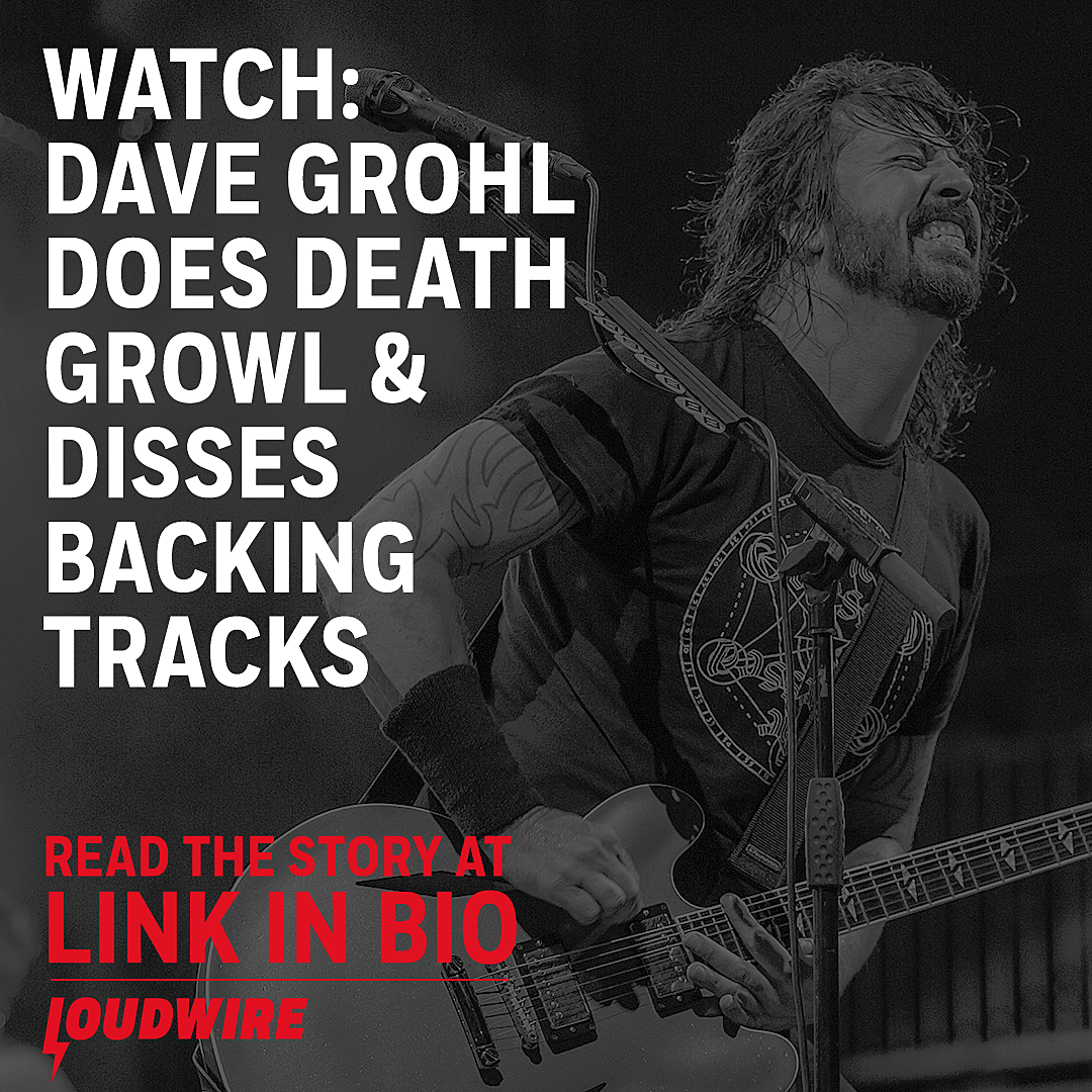 Watch Dave Grohl Mock Death Growls + Backing Tracks During Set