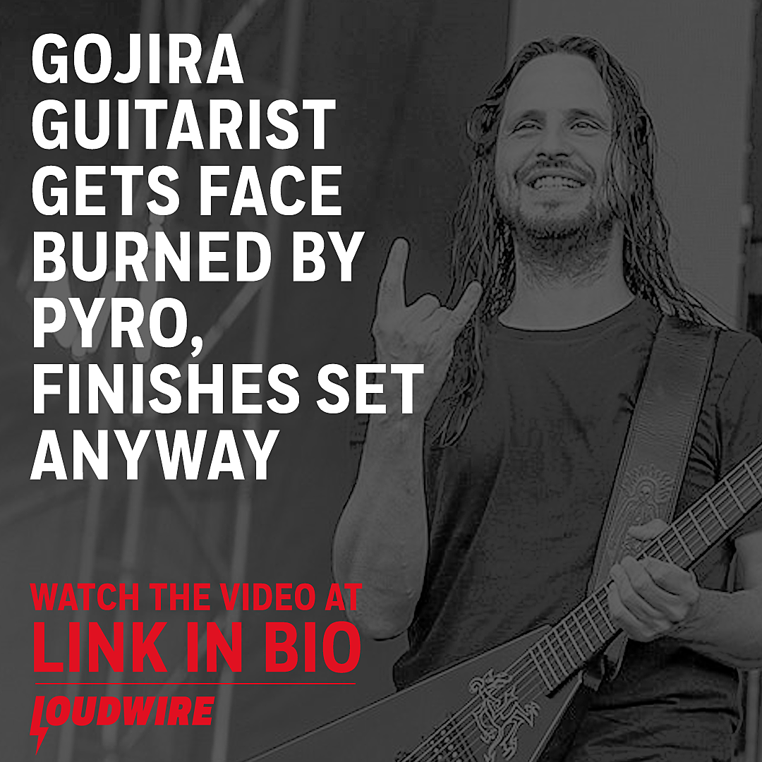 Gojira Guitarist Finishes Show After Getting Face Burned by Pyro