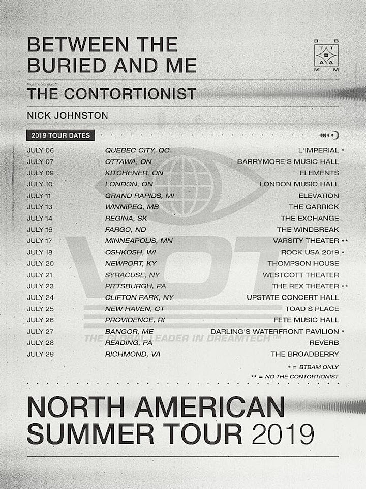 Between the Buried and Me Announce Summer 2019 Tour