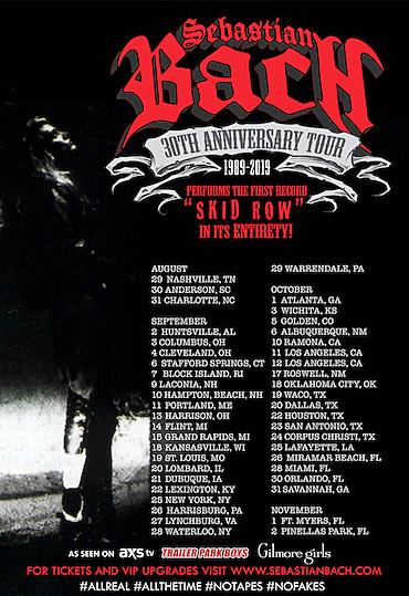Skid Row Tour Dates 2020 Sebastian Bach to Perform Skid Row Debut Album in Full on Tour