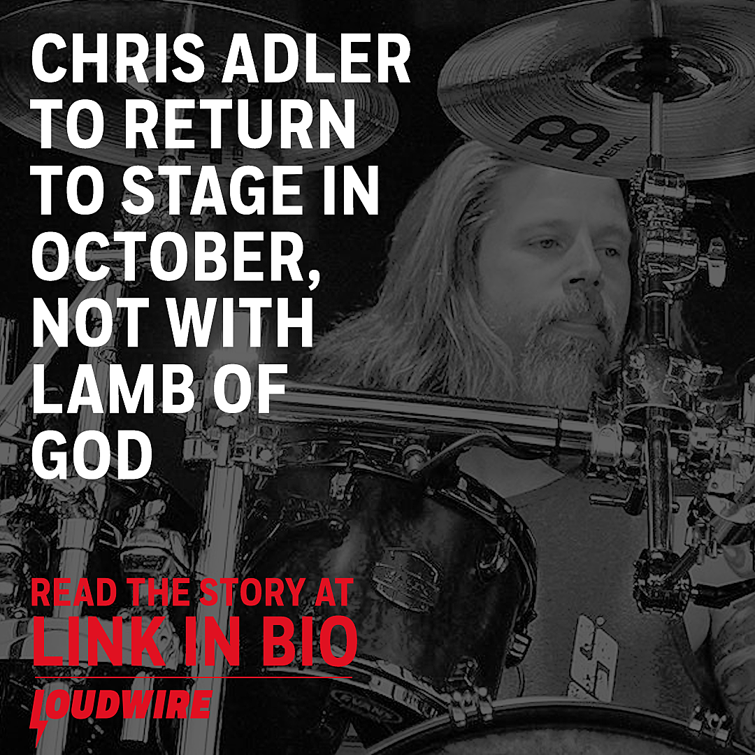aa6b0a78 Chris Adler Returning to Stage in October, Not With Lamb of God