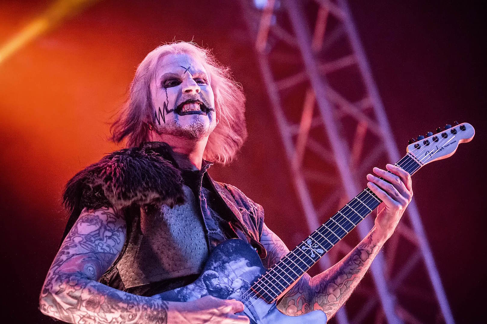 The 49-year old son of father (?) and mother(?) John 5 in 2021 photo. John 5 earned a  million dollar salary - leaving the net worth at  million in 2021