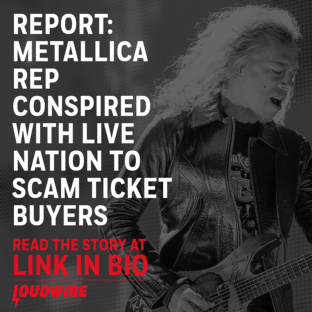 Metallica Rep Conspired With Live Nation to Scam Ticket Buyers