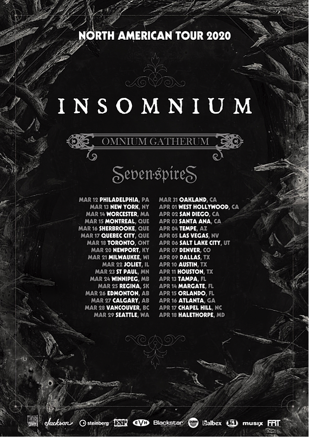Oddball Comedy Tour 2020 Insomnium Announce 2020 North American Tour, Release New Song