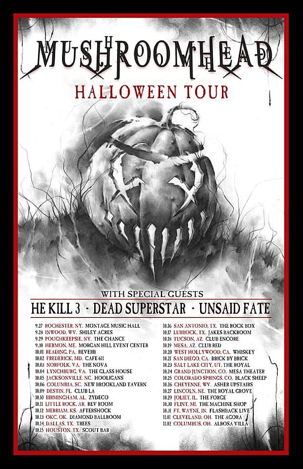 Mushroomhead Book 'Halloween' Fall U S  Tour