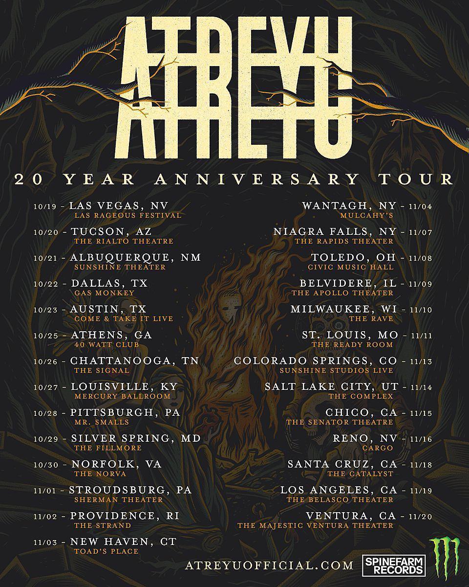 Atreyu Announce 20th Anniversary Tour + Let Fans Pick Set List
