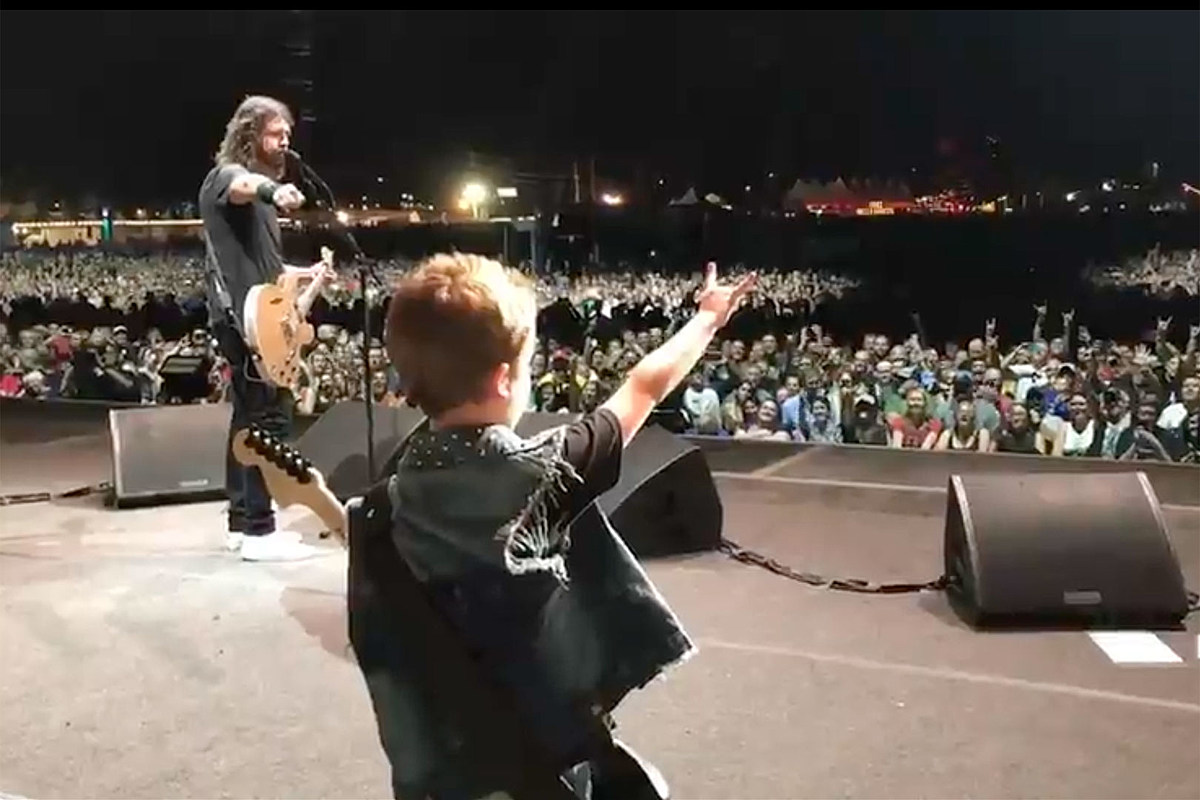 Watch Scott Ian's Son Revel Perform 'Everlong' With Foo Fighters