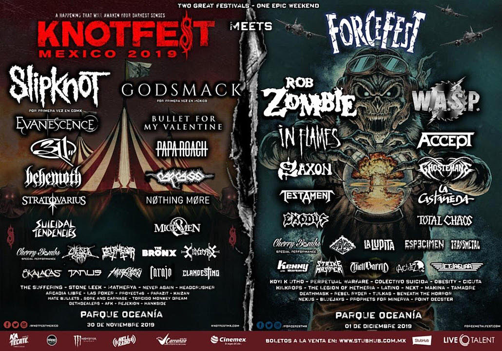 Slipknot Reveal Full 2019 Knotfest Colombia + Mexico Lineups