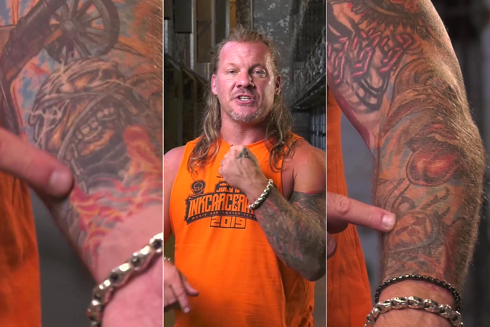 Chris Jericho + M. Shadows Have Matching Tattoos