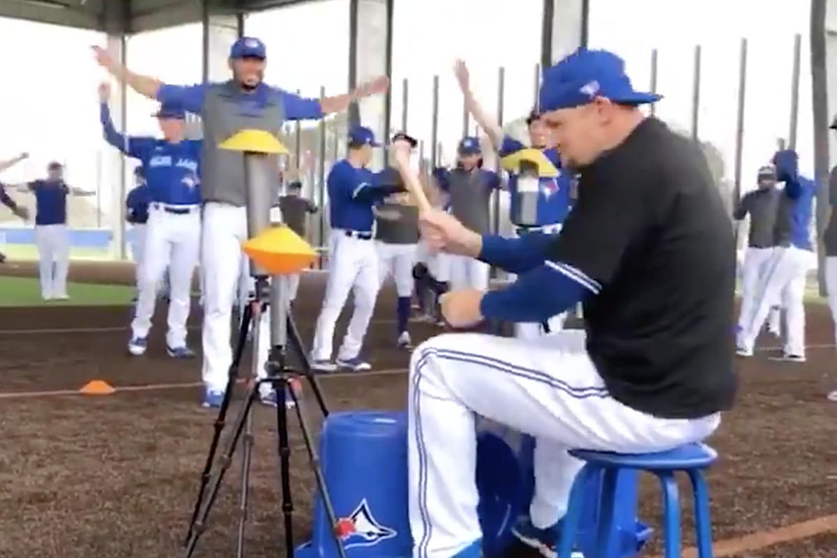 Pro Baseball Player Air Drums to Rush's Neil Peart Like a Maniac