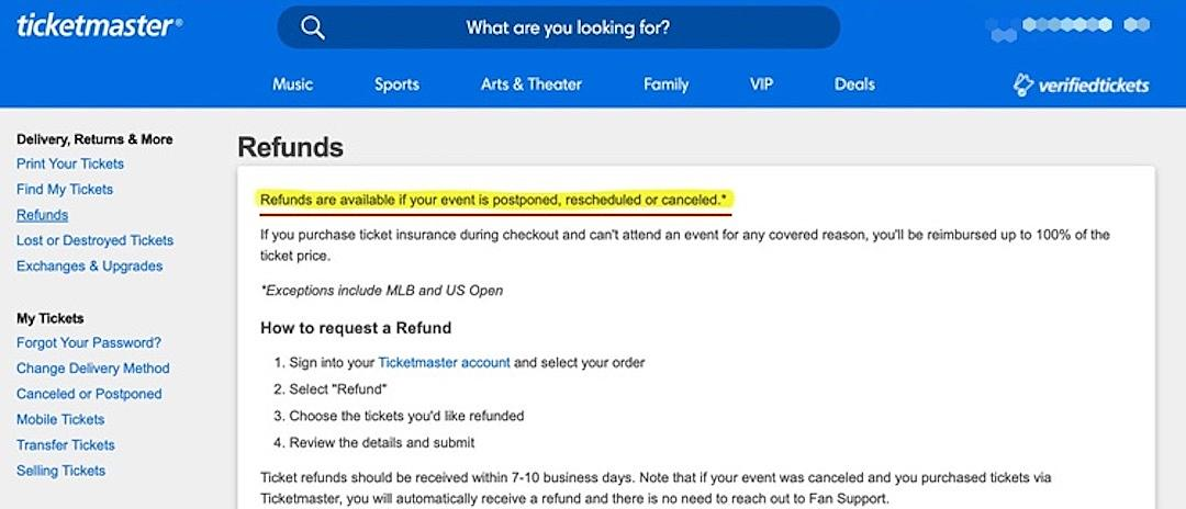 Ticketmaster Receives Backlash After Changing Refund Policy