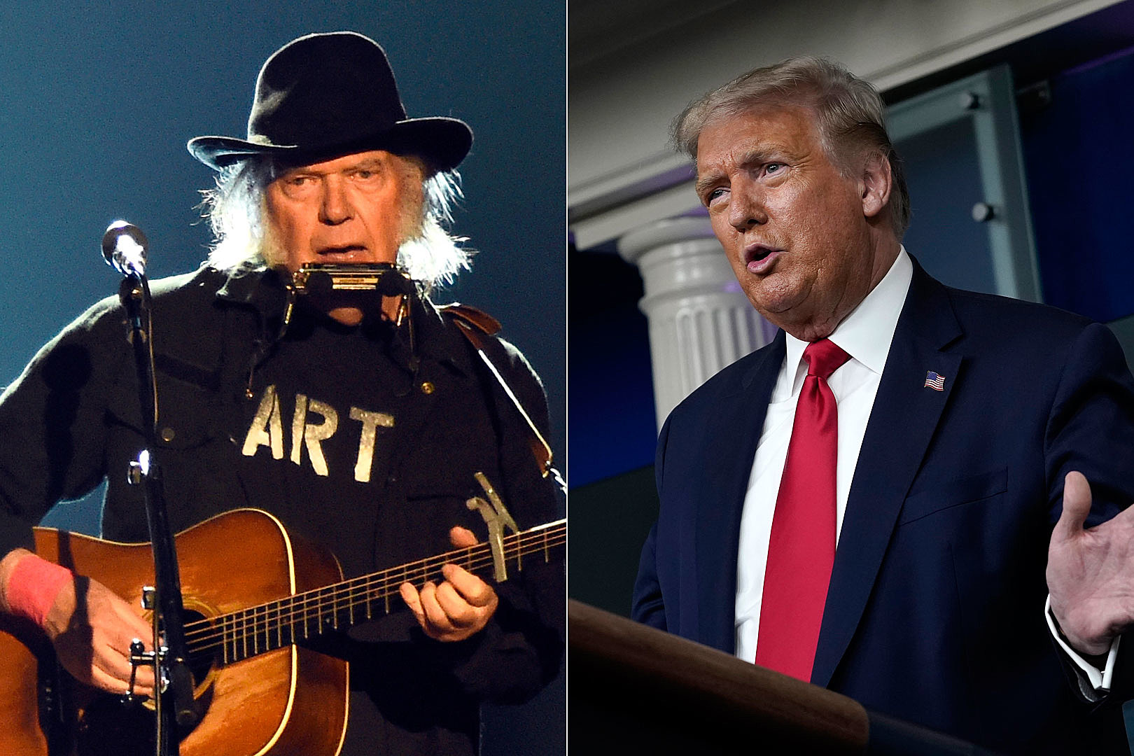 Neil Young Posts Suit for Trump 'Rockin' in the Free World' Usage