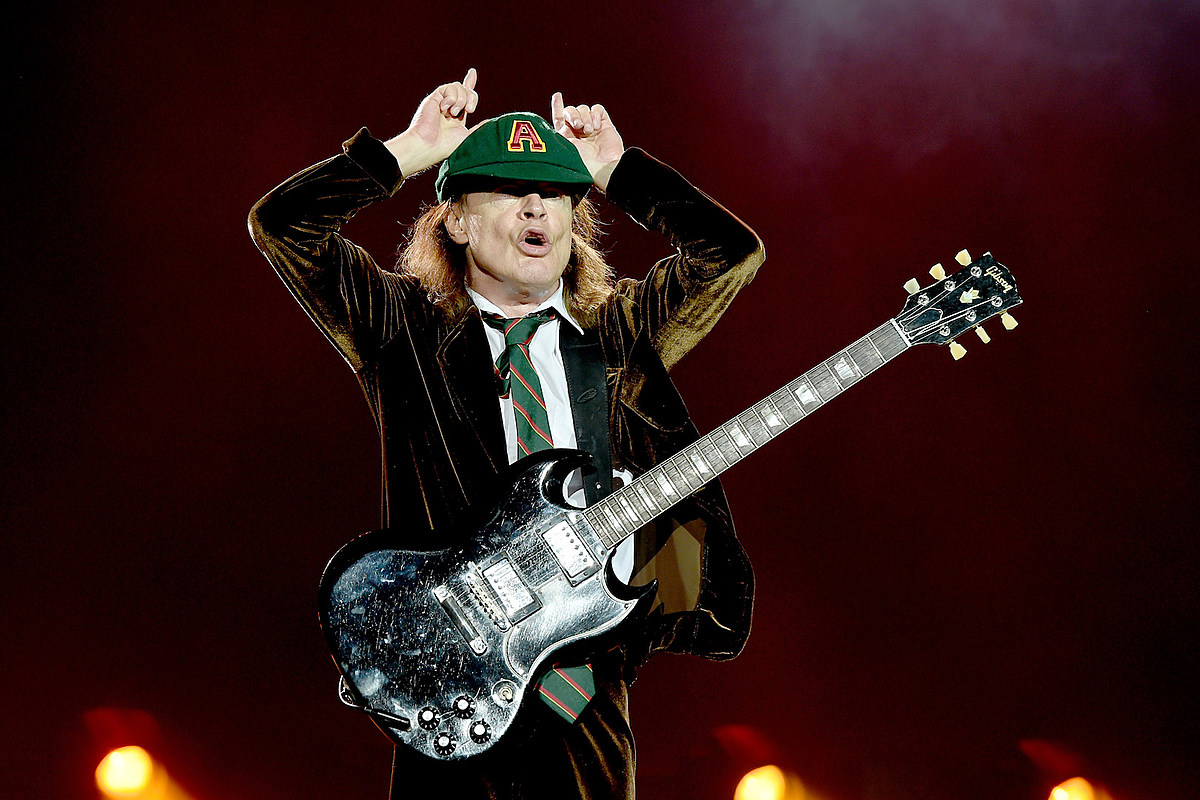 GettyImages 490492738 Angus Young Talks Whether AC/DC Would Play Socially Distant Shows