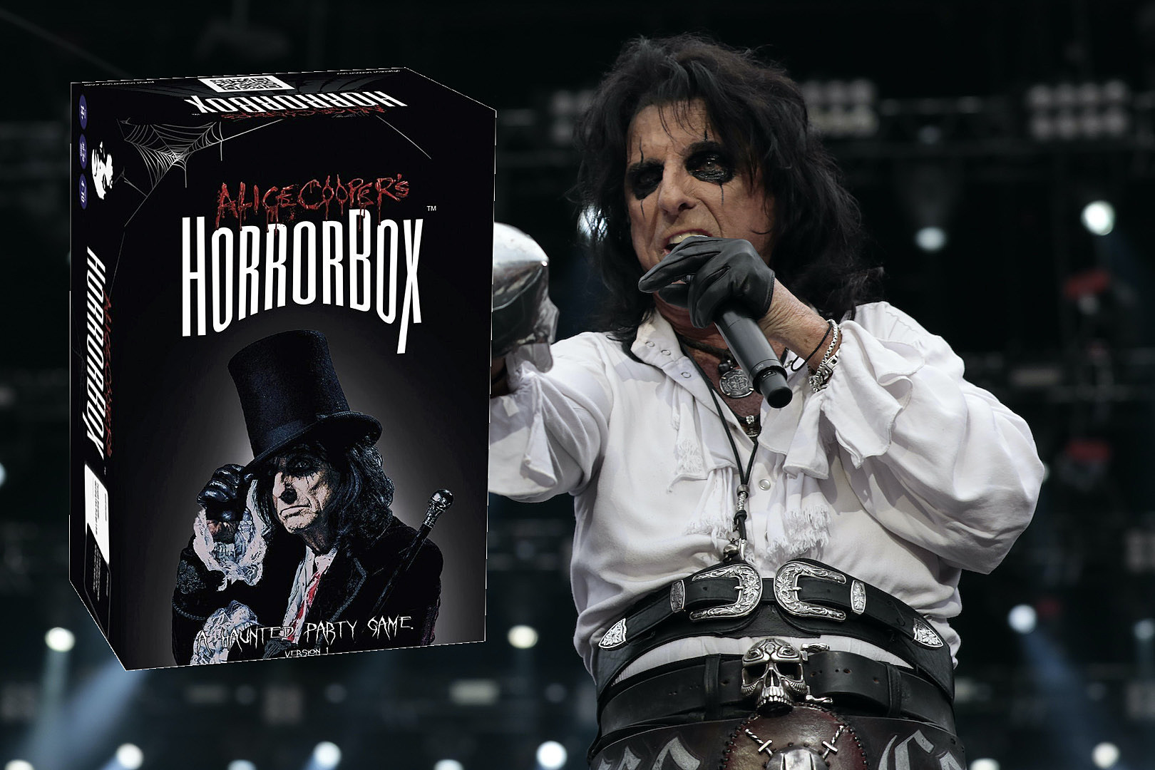 Alice Cooper Unveils HorrorBox, a Horror-Themed Party Game