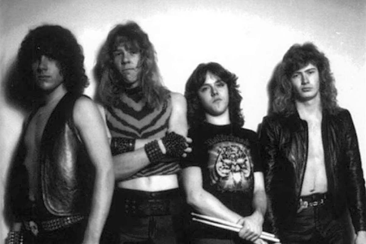 metallica early photo with ron mcgovney and dave mustaine Original Metallica Bassist Picks Band's 'Most Disgusting Song'