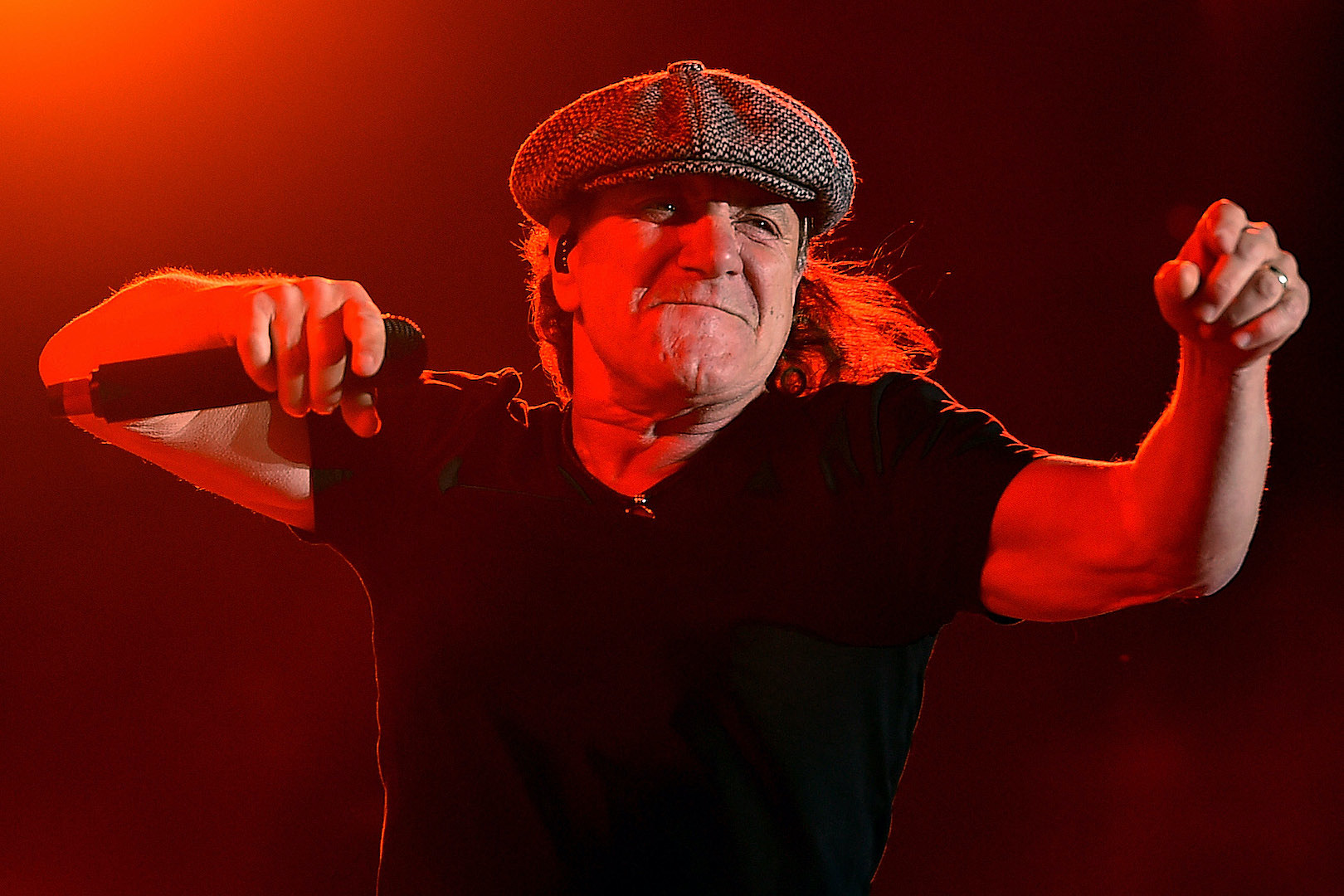 The Reason Why AC/DC's Brian Johnson Always Wears That Iconic Cap