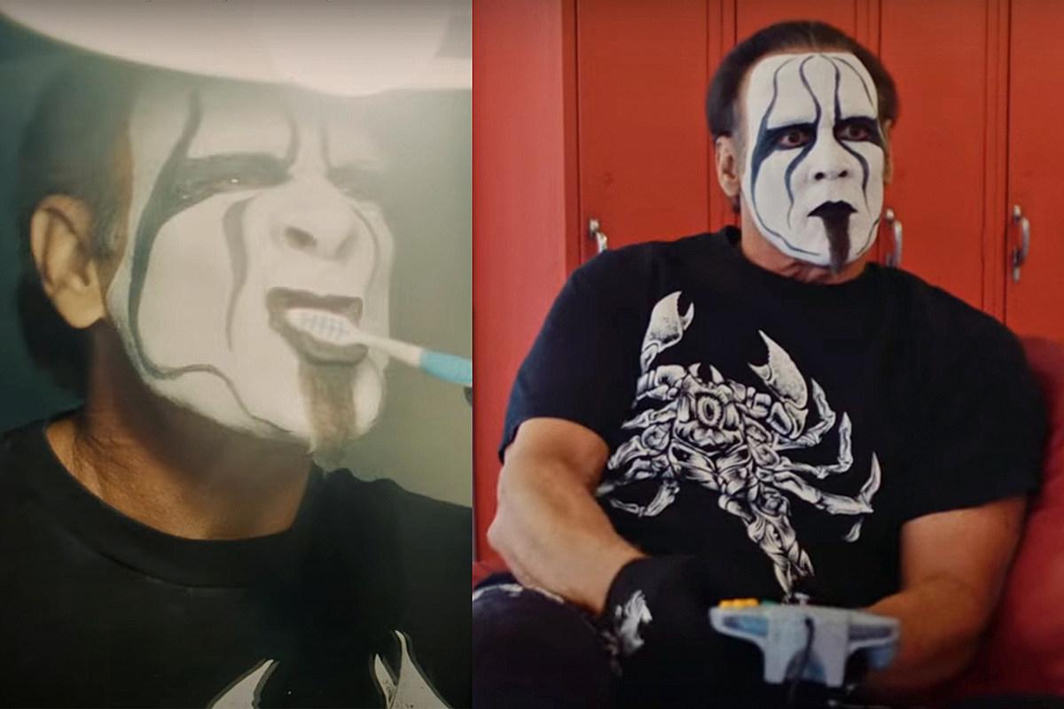 Икона рестлинга Стинг чистит зубы + играет N64 в видео Depressing Islander
