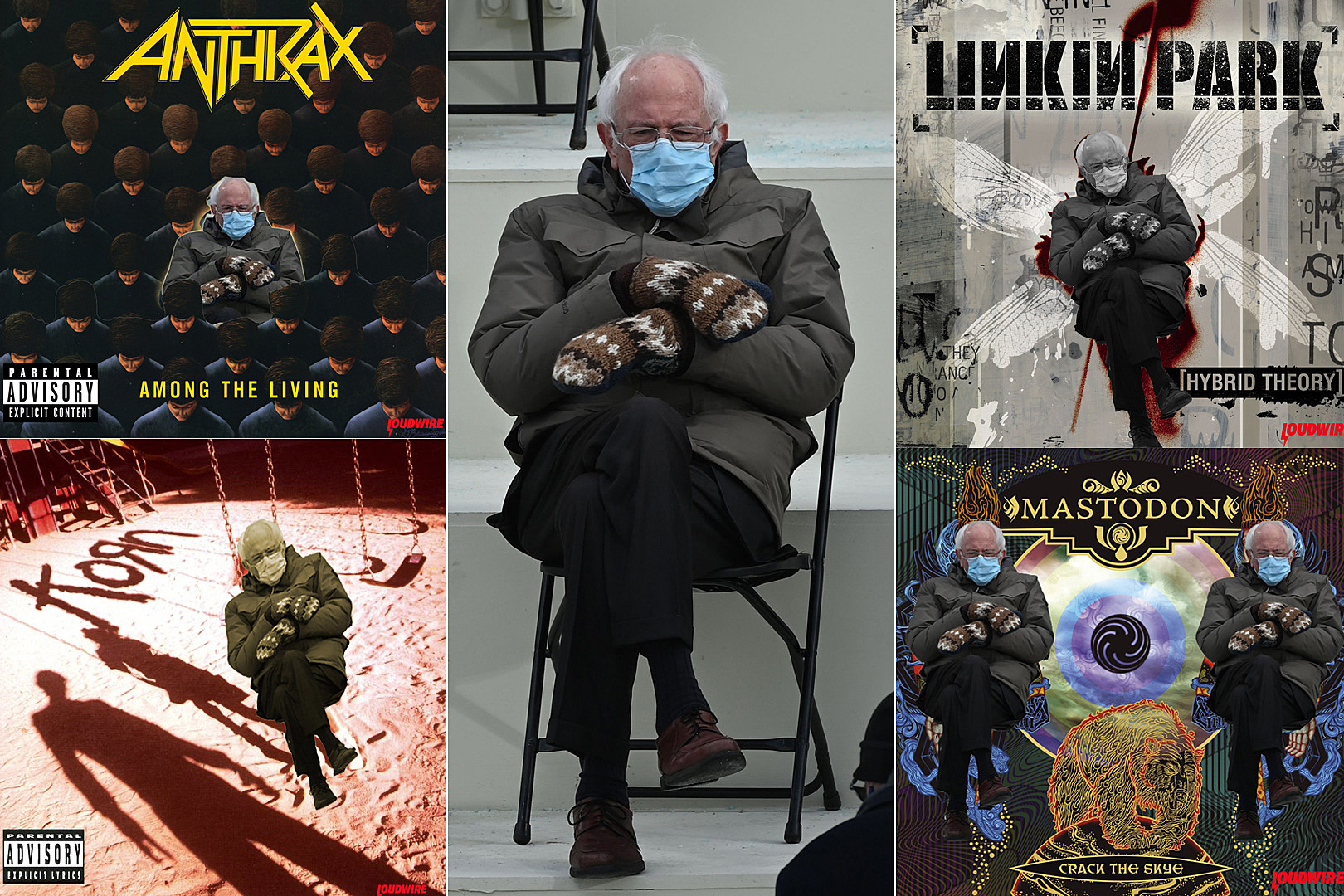 45 Rock + Metal Album Covers: Inauguration Day Bernie Sanders