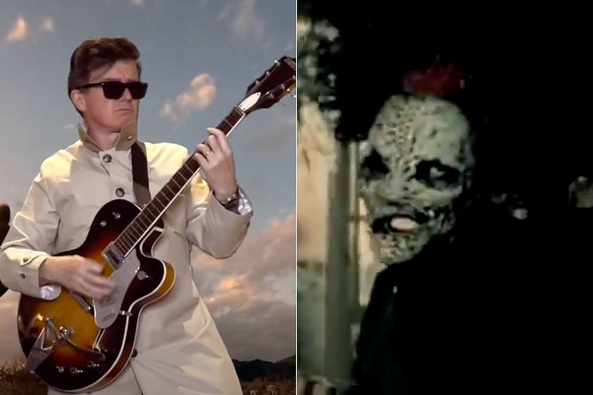Посмотрите, как Рик Эстли выходит на сцену «Двойственности» Slipknot