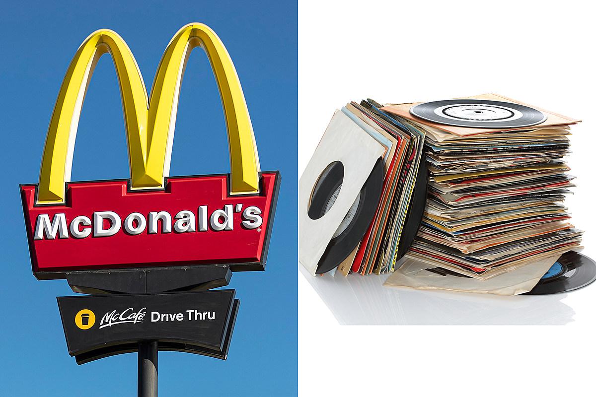 McDonald's предлагает виниловую пластинку в ограниченном комплекте с сувенирами с хрустящими сэндвичами с курицей