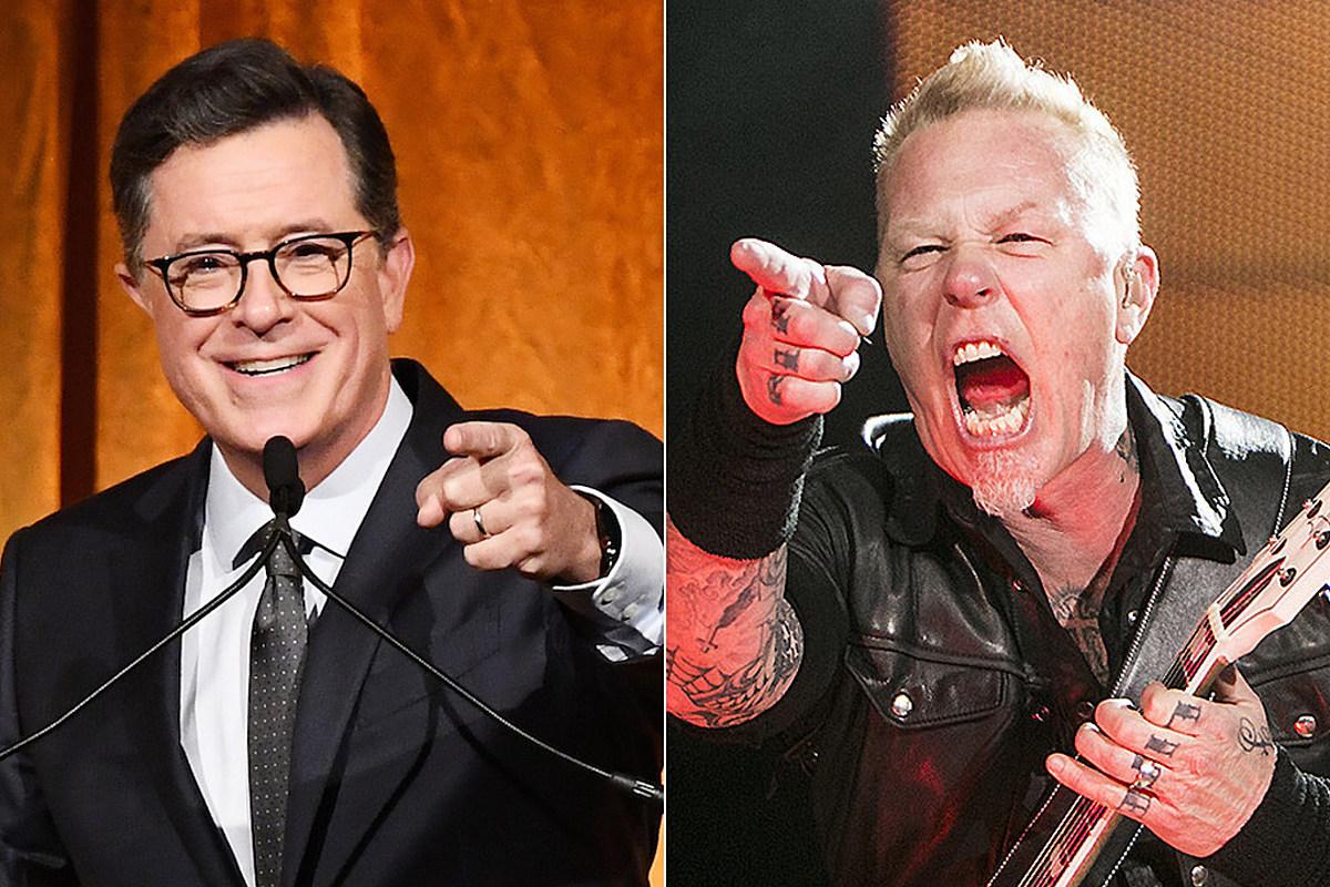 Смотрите первое живое выступление Metallica в 2021 году на специальном выпуске Super Bowl 'Colbert'