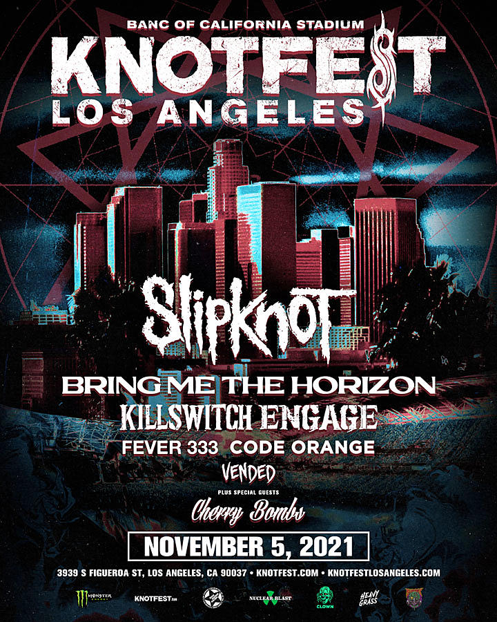 Slipknot Announce Lineup for Knotfest 2021 Los Angeles Edition